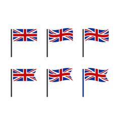 uk flag icon set british national flag icons vector image