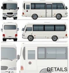 urban passenger minibus vector image