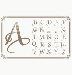 Vintage decorative font vector