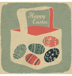 vintage happy easter vector image