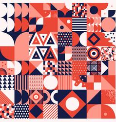 Vintage retro bauhaus style seamles pattern vector