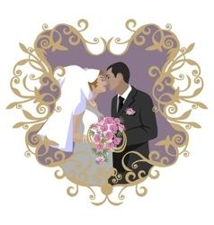Wedding couple 09 vector image