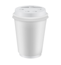 white blank realistic coffee cup mockup vector image