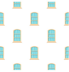 White narrow window pattern flat vector
