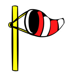 windsock on golf course icon icon cartoon vector image