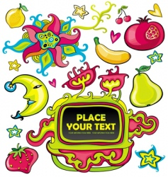 colorful set of design elements vector image vector image