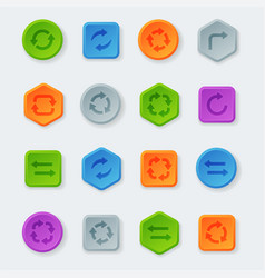 colorful website turn buttons design vector image vector image