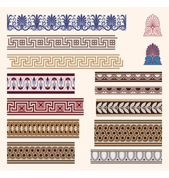greek border ornaments vector image