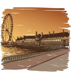 London cityscape drawing vector image vector image