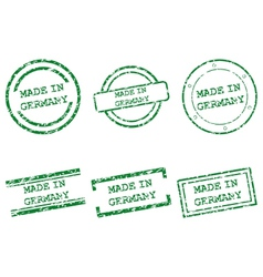Made in Germany stamps vector image