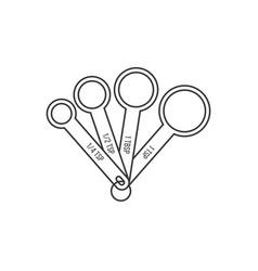 measuring spoon outline design icon vector image