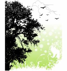 return to nature vector image vector image