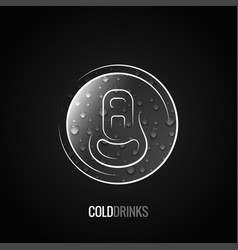 aluminum can drink logo background vector image