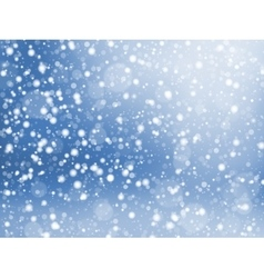 Falling snow texture Winter festive background vector image