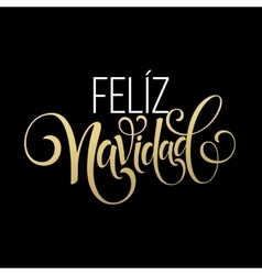Feliz navidad hand lettering decoration text for vector
