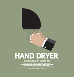 Hand Dryer In Public Toilet vector image vector image