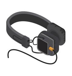 isometric headphones vector image vector image
