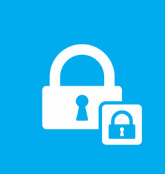 lock icon with padlock sign vector image