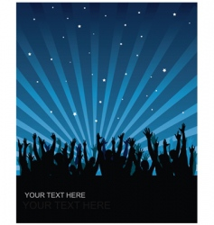 party audience background vector image vector image