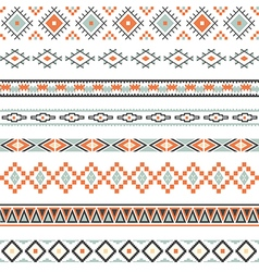 Seamless pattern for tribal design Ethnic motif vector image