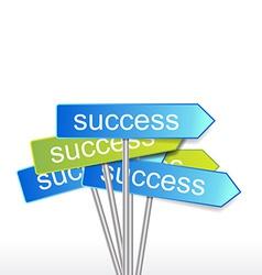 success indicator vector image