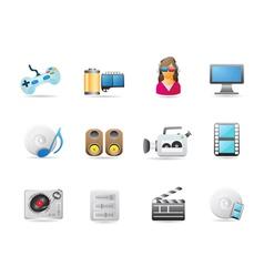 entertainment icon set vector image vector image