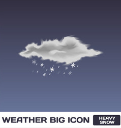 Heavy Snow Icon vector image vector image