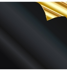 Sheet of golden paper with a curl vector image vector image