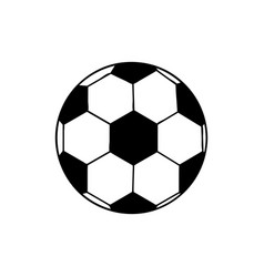 black silhouette soccer ball element sport vector image vector image