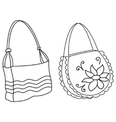 female handbags contours vector image