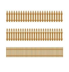 Set of wooden fences vector