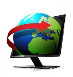 3d world travel screen vector