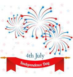 4th july american independence day celebration vector