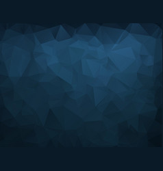 Abstract blue navy dark polygonal mosaic vector