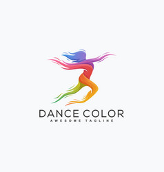abstract dance color design template vector image
