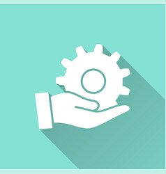 Assistance - icon for graphic and web vector