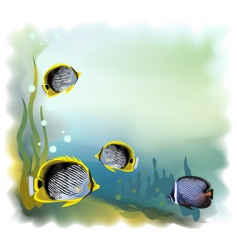 Background underwater world vector illustration vector