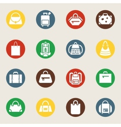 Bags and luggage icons vector image