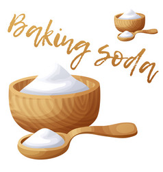 Baking soda cartoon icon isolated on white vector