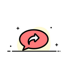 Basic chat arrow right business flat line filled vector