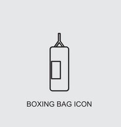 Boxing bag icon vector
