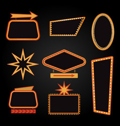 brightly casino or theater glowing retro vector image