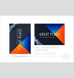 brochure design triangular template colourful vector image