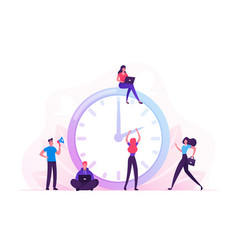business process time management concept busy vector image