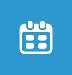 Calendar icon white on the blue background vector