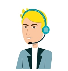 call center agent avatar vector image