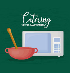 catering and cooking design vector image