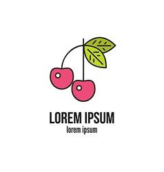 Cherry Logo vector image