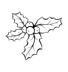 Christmas mistletoe coloring book vector