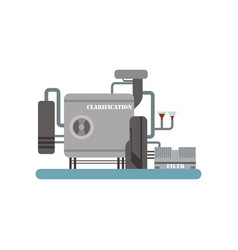 clarification process winery production equipment vector image